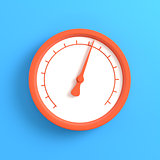 Gauge on bright blue background