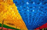 Paper lanterns at the Buddhist temple of Seokguram, South Korea