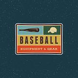 vintage baseball logo. retro styled sport emblem. vector illustration