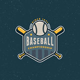 vintage baseball logo. retro styled sport emblem. vector illustration