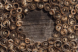Wood shavings background