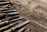 Old carving and woodworking tools
