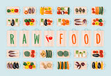 Raw food and healthy vegetables