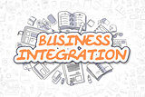 Business Integration - Doodle Orange Text.