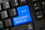 Keyboard with Blue Keypad - Blogging Services. 3d
