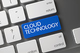 Cloud Technology - PC Button. 3d