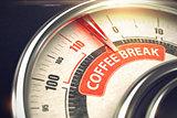 Coffee Break - Business Mode Concept. 3D.