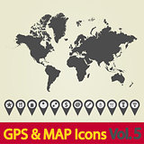 World map icon.