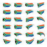 south africa flag, vector illustration