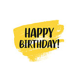 Happy Birthday greeting card design with lettering