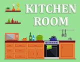 kitchen room isolated interior