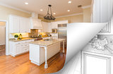 Kitchen Photo Page Corner Flipping with Drawing Behind