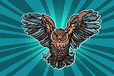 Beautiful realistic owl in flight