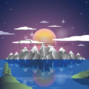Alps night landscape