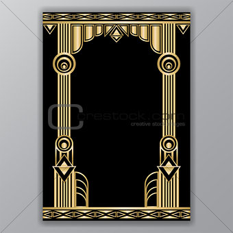 Art deco greece columns  motive