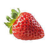 Juicy strawberry on white background