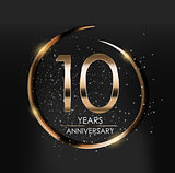 Template Logo 10 Years Anniversary Vector Illustration