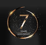 Template Logo 7 Years Anniversary Vector Illustration