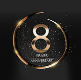 Template Logo 8 Years Anniversary Vector Illustration