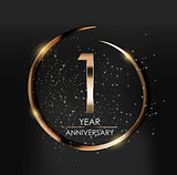 Template Logo 1 Year Anniversary Vector Illustration