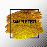 Gold Paint Glittering Textured Art Illustration. Vector Illustration