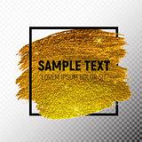 Gold Paint Glittering Textured Art Illustration. Vector Illustration