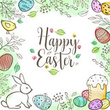Decorative Easter greeting card