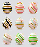 Set of decorative Easter eggs