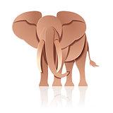 Paper decor elephant
