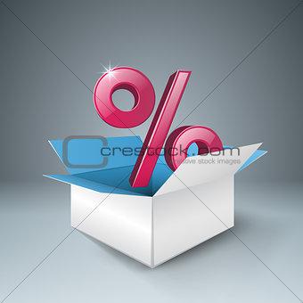 Business infographics. Percent icon.