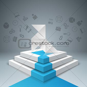 Paharita, bird, stair, ladder - business illustration.