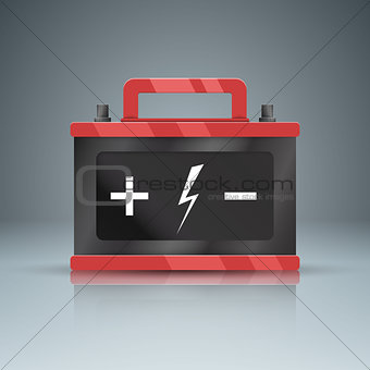 Business Infographics. Battery car icon.