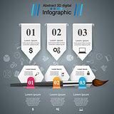 Brush icon. Business infographics.