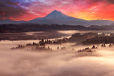 Mount Hood Foggy Sunrise