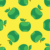 Apple green yellow seamless pattern background