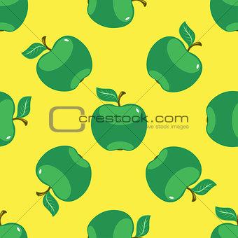 Apple green yellow seamless pattern background