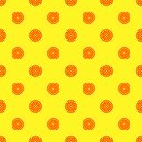 Orange fruit seamless yellow pattern
