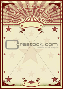 Circus stars vintage poster