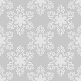 Seamless pattern with snowflakes gray white