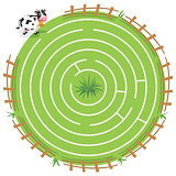 Maze Labyrinth Game,Vector Illustration
