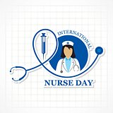 Vector illustration of International Nurse Day stock image