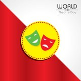 vector illustration for World Theatre Day design