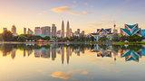 Sunrise Panoramic view of Kuala Lumpur city, Malaysia