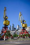Construction crane, Puerto Madero, Buenos Aires