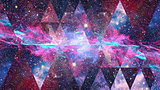 Nebula space and sacred geometry. Elements of this image furnished by NASA.