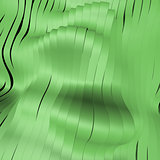 Green abstract silver stripe pattern background 3d illustration