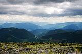 The landscape on the Carpathian Mountains in Ukraine