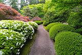 Stroling Garden Path in Japanese Garden