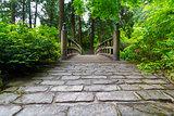 Cobblestone Path to Wood Bridge