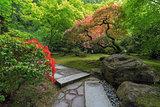 Japanese Garden Strolling Stone Path